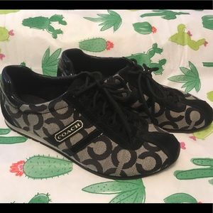 Black Coach tennis shoes size 6 - worn once